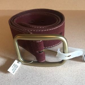 Suede Woman's Leather belt